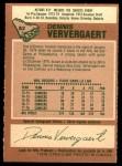 1978 O-Pee-Chee #52  Dennis Ververgaert  Back Thumbnail
