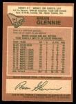 1978 O-Pee-Chee #345  Brian Glennie  Back Thumbnail