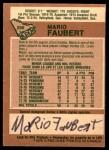 1978 O-Pee-Chee #296  Mario Faubert  Back Thumbnail