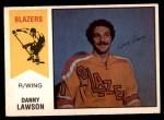 1974 O-Pee-Chee WHA #25  Danny Lawson  Front Thumbnail