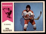 1974 O-Pee-Chee WHA #63  Real Cloutier  Front Thumbnail