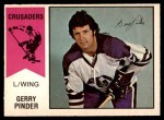 1974 O-Pee-Chee WHA #9  Gerry Pinder  Front Thumbnail