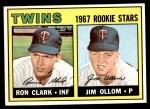 1967 Topps #137   -  Ron Clark / Jim Ollom Twins Rookies Front Thumbnail