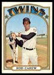 1972 Topps #695  Rod Carew  Front Thumbnail