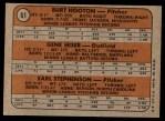 1972 Topps #61   -  Burt Hooton / Gene Hiser / Earl Stephenson Cubs Rookies   Back Thumbnail