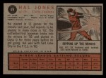 1962 Topps #49  Hal Jones  Back Thumbnail
