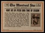 1972 Topps #448   -  Willie Stargell In Action Back Thumbnail