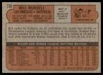 1972 Topps #736  Bill Russell  Back Thumbnail