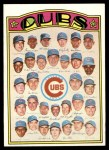1972 Topps #192   Cubs Team Front Thumbnail