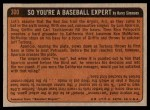 1972 Topps #300   -  Hank Aaron In Action Back Thumbnail