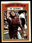 1972 Topps #434   -  Johnny Bench In Action Front Thumbnail