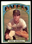 1972 Topps #532  Fred Kendall  Front Thumbnail