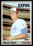 1970 Topps #548  Howie Reed  Front Thumbnail