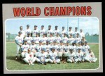 1970 Topps #1   World Champions - Mets Team Front Thumbnail