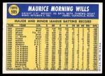 1970 Topps #595  Maury Wills  Back Thumbnail