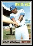 1970 Topps #395  Walt Williams  Front Thumbnail