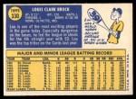 1970 Topps #330  Lou Brock  Back Thumbnail