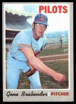 1970 Topps #289  Gene Brabender  Front Thumbnail