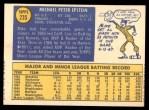 1970 Topps #235  Mike Epstein  Back Thumbnail