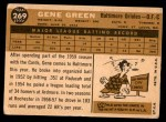 1960 Topps #269  Gene Green  Back Thumbnail