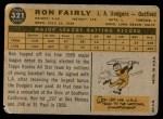1960 Topps #321  Ron Fairly  Back Thumbnail