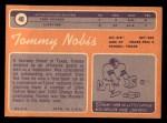 1970 Topps #40  Tommy Nobis  Back Thumbnail