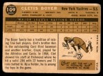 1960 Topps #109  Clete Boyer  Back Thumbnail