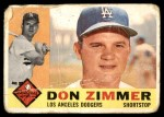 1960 Topps #47  Don Zimmer  Front Thumbnail