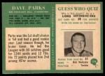 1966 Philadelphia #179  Dave Parks  Back Thumbnail