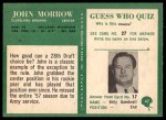 1966 Philadelphia #47  John Morrow  Back Thumbnail