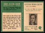 1966 Philadelphia #175  John David Crow  Back Thumbnail