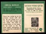 1966 Philadelphia #59  Chuck Howley  Back Thumbnail