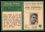 1966 Philadelphia #90  Willie Wood  Back Thumbnail