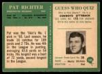 1966 Philadelphia #189  Pat Richter  Back Thumbnail