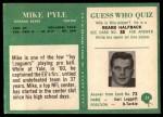 1966 Philadelphia #37  Mike Pyle  Back Thumbnail