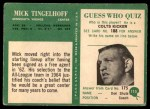 1966 Philadelphia #115  Mick Tingelhoff  Back Thumbnail