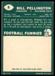 1960 Topps #8  Bill Pellington  Back Thumbnail