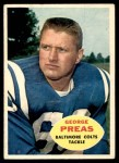 1960 Topps #6  George Preas  Front Thumbnail