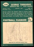 1960 Topps #100  George Tarasovic  Back Thumbnail