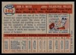 1957 Topps #162  Jack Meyer  Back Thumbnail