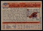 1957 Topps #184  Tito Francona  Back Thumbnail