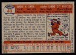 1957 Topps #41  Hal W. Smith  Back Thumbnail