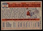 1957 Topps #44  Joe DeMaestri  Back Thumbnail