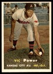 1957 Topps #167  Vic Power  Front Thumbnail