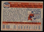 1957 Topps #176 COR Gene Baker  Back Thumbnail
