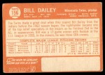 1964 Topps #156  Bill Dailey  Back Thumbnail