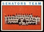 1964 Topps #343   Senators Team Front Thumbnail