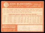 1964 Topps #118  John Blanchard  Back Thumbnail