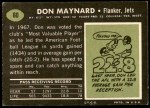 1969 Topps #60  Don Maynard  Back Thumbnail