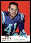 1969 Topps #47  Tom Matte  Front Thumbnail